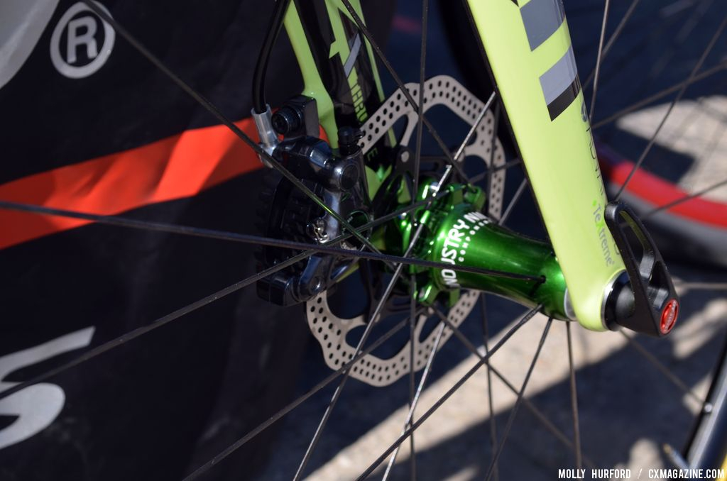 Disc brakes are the new normal. Felt F2x at Sea Otter 2014. © Cyclocross Magazine
