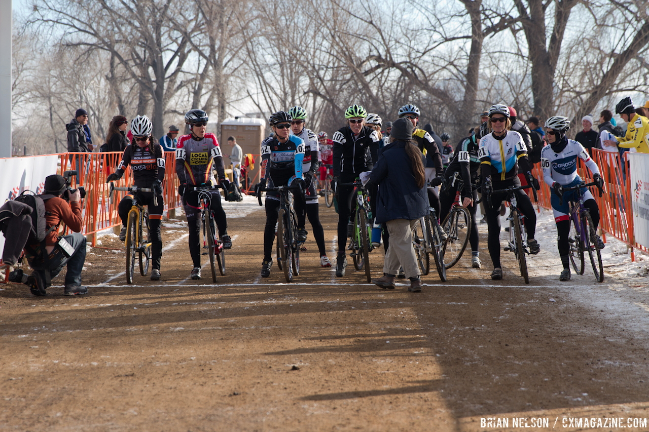 Master Women lining up for the start.  © Brian Nelson