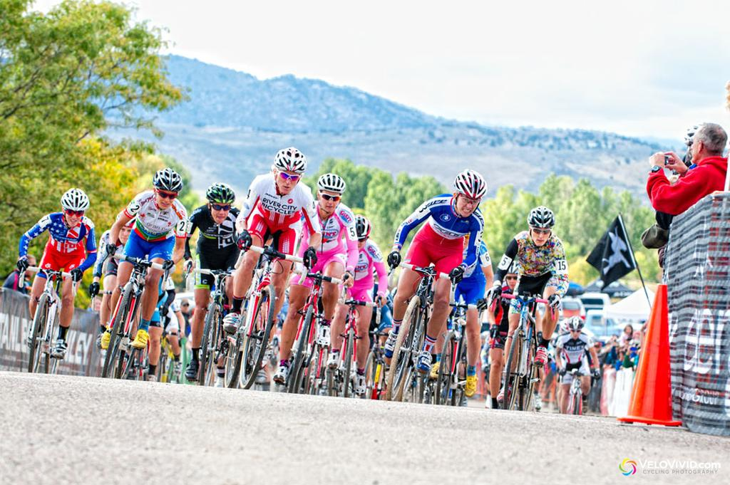 Caroline Mani takes the holeshot and would go on to finish a strong fourth. © VeloVivid Cycling Photography