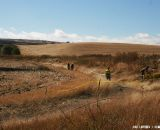 The ranch used to be farm land, and grain crops surround the land. ©Cyclocross Magazine