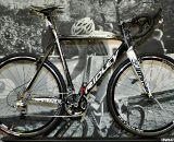The World Championship-winning bike: Ridley's 2011 X-Night featuring a BB30 bottom bracket, tapered headtube, and internal cable routing. © Cyclocross Magazine