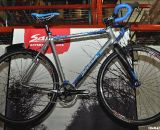 Salsa is a QBP brand and has a long history of cyclocross bikes. The gray and blue splatter color scheme of the 2011 Salsa Chili Con Crosso was on display.