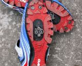 The Gaerne G. Keira mtb and cyclocross shoe features a stable, aggressive, grippy sole. © Cyclocross Magazine