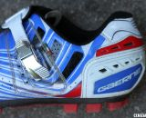 The Gaerne G. Keira mtb and cyclocross shoe comes in bright color options as well as white and black, and has a nice, micro-adjust buckle. © Cyclocross Magazine