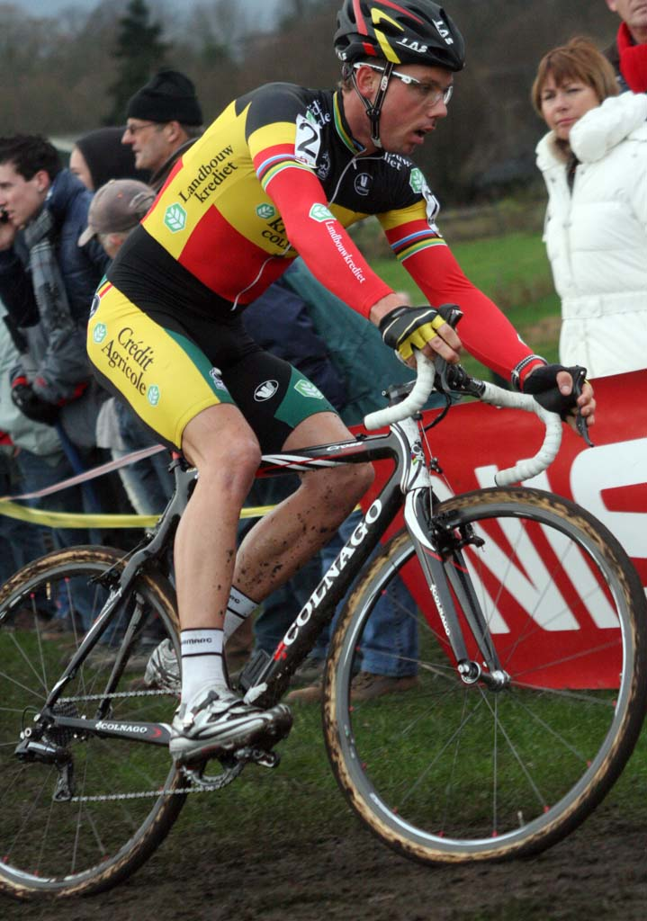 Nys stepped up into the overall Superprestige series lead.  ? Bart Hazen
