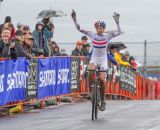 Wyman crosses the line to win yet again © Todd Prekaski