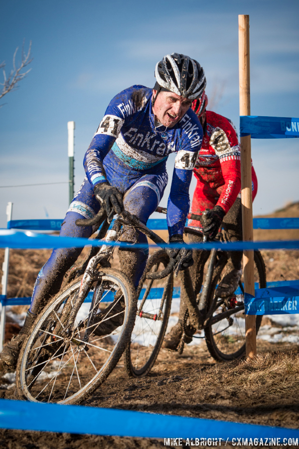 Rolf Warmuth in the men\'s 50-54 race at 2014 USA Cyclocross National Championships. © Mike Albright