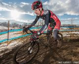 Sun starting to set in the men's 50-54 race at 2014 USA Cyclocross National Championships. © Mike Albright