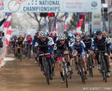 The start in the men's 50-54 race at 2014 USA Cyclocross National Championships. © Mike Albright-54-7