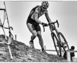 Taking the off-camber in the men's 50-54 race at 2014 USA Cyclocross National Championships. © Mike Albright