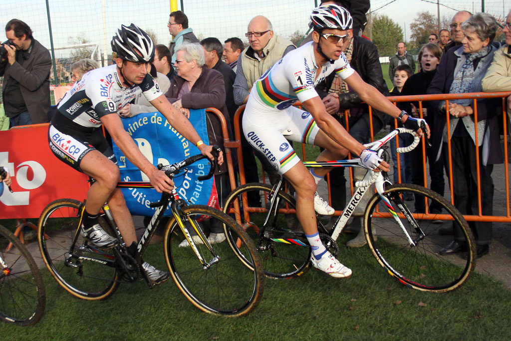 Stybar got no help from Albert\'s teammate Simunek during the chase. ©Bart Hazen