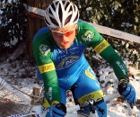 Thijs Al cornering carefully in the icy conditions.  ? Bart Hazen