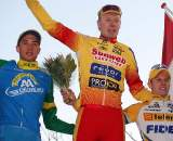 The U23 podium at the GP Groenendaal.  ? Bart Hazen