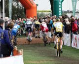 Heading into the barriers at Cyclo-cross Grote Prijs van Brabant. © Bart Hazen