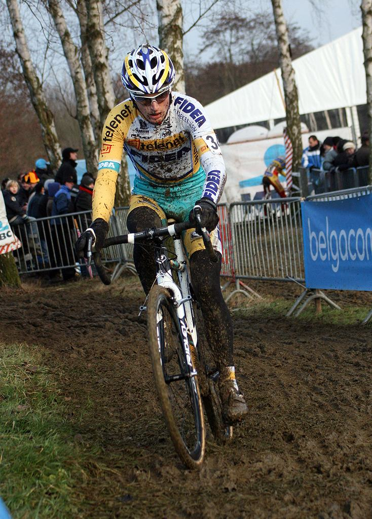 Kevin Pauwels got caught in an early crash. GP Sven Nys 2010 - Baal, Beglium. GVA Trofee Series. ? Bart Hazen