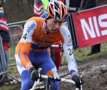 De Knegt raced with Albert for most of the race. GP Sven Nys 2010 - Baal, Beglium. GVA Trofee Series. ? Bart Hazen