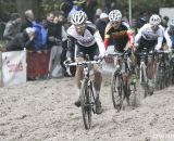 Niels Albert leading the race through the sand pit. © Bart Hazen / Cyclocross Magazine