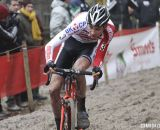 Mathieu van der Poel (negotiates the sand. © Bart Hazen / Cyclocross Magazine