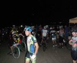 Riders gathering for the 6AM start in 2010. Official headcount was 96 with 10 to 20 others pirating the Pirate race. ©Pirate Cycling League