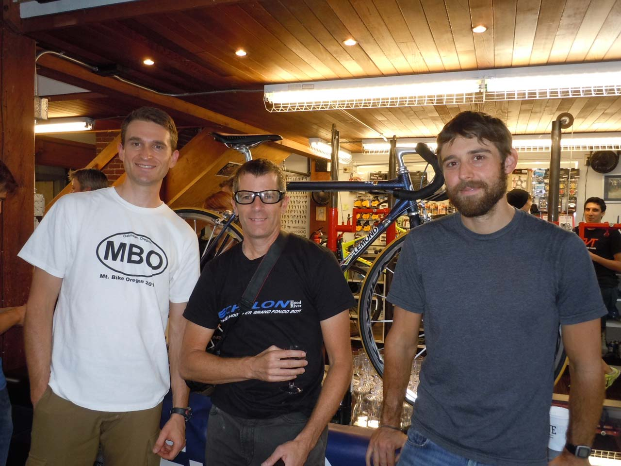 CXM contributors Seth Hosmer and Robbie Carver flank Echelon executive director Hunter Ziesing ©Cyclocross Magazine