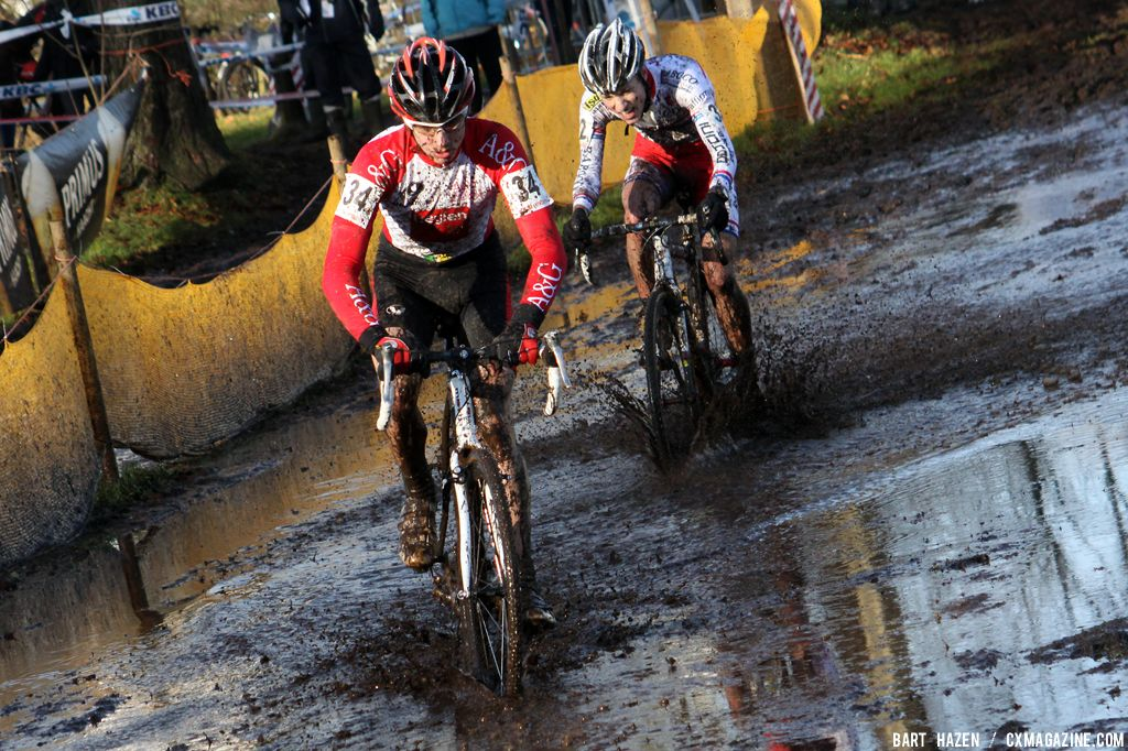 It was a real mudfest today   © Bart Hazen