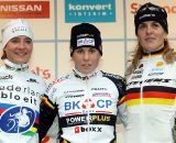 Vos, Cant, Kupfernagel (l to r) on the Elite women's podium ©Bart Hazen