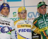 Stybar, Pauwels, Nys (l to r) on the Elite men's podium ©Bart Hazen