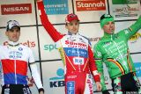 Podium  in the final GVA Trofee race in Oostmalle. © Bart Hazen