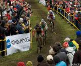The Elite Men race in the second round of the World Cup in Plzen, Czech Republic. (From UCI Cyclocross World Cup 2009/2010, ? Balint Hamvas)