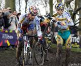 Fidea Teammates Zdenek Stybar and Bart Wellens make their way through the mud in Roubaix. (From UCI Cyclocross World Cup 2009/2010, ? Balint Hamvas)