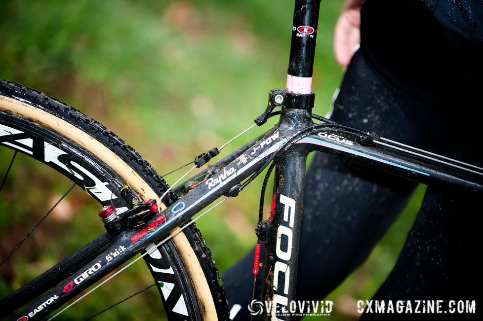 A closer look at Powers\' bike. © VeloVivid
