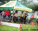 Getting out of the rain at the Harbin Park Cyclocross Clinic © VeloVivid