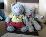Wyman's teddy bears: Harry and Bonnie.
