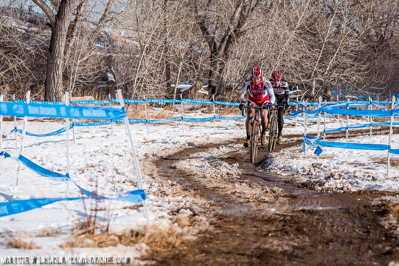 Early race leaders in Masters 55-59 at the 2014 National Championships. © Matt Lasala