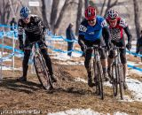 The group hits the mud in Masters 55-59 at the 2014 National Championships. © Matt Lasala