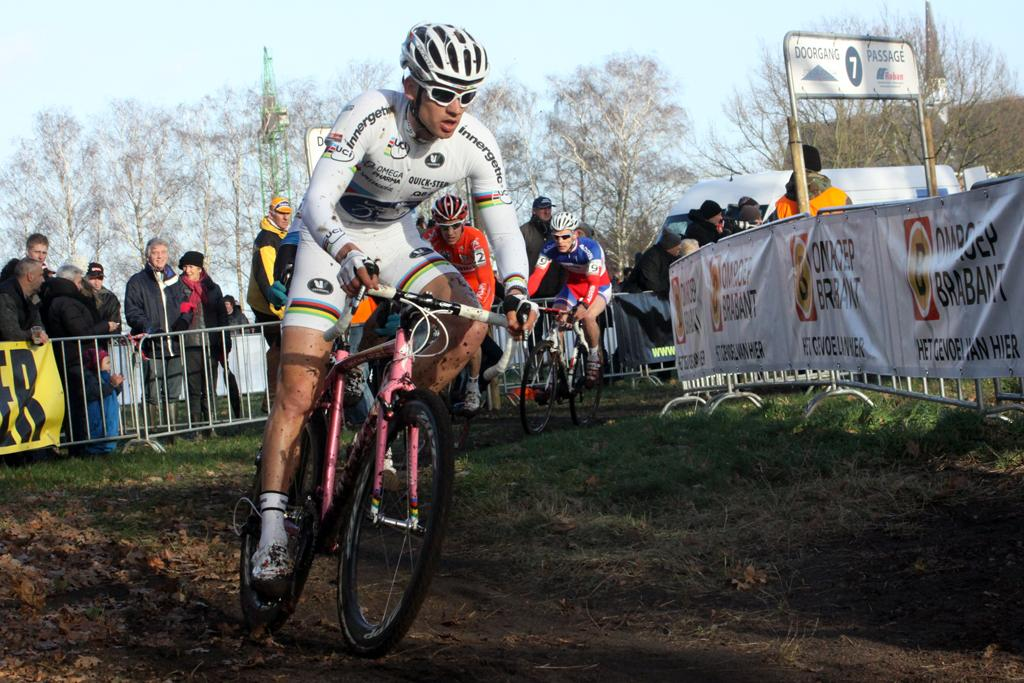 Zdenek Stybar finished second after an aggressive day of racing.©Bart Hazen