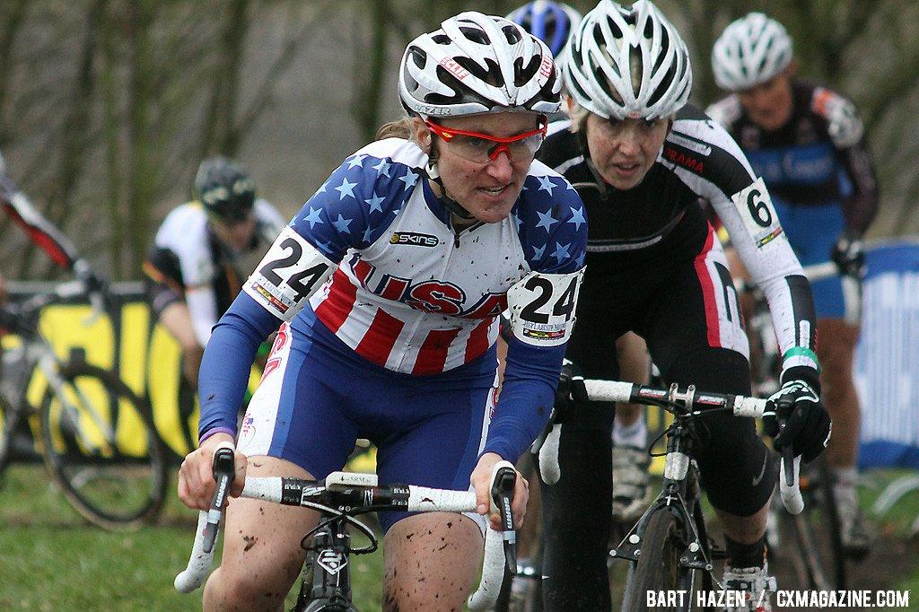 Amy Dombroski at the Hoogerheide Cyclocross Word Cup 2011 © Bart Hazen