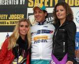 Meeusen enjoys the company of the podium girls. ? Bart Hazen