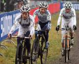 Van Den Brand (l), Van Paassen and Vos were together until midway through the race. ? Bart Hazen