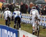 Van Den Brand (l), Van Paassen and Vos pull away from the rest of the field. ? Bart Hazen