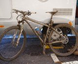 Mike Broderick's dirty bike - both Mary and Mike switched to 29ers, as did Willow Koerber and a bunch of other USA riders - the trend hasn't hit Europe as hard yet ? Jonas Bruffaerts
