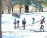 Cat 4 men traversing Ice and mud at HPCX 2011 © Chris LaBudde