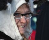 Britlee Bowman celebrates Halloween dressed as a skunk at HPCX 2011 © Chris LaBudde