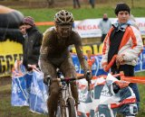 Kevin Pauwels is barely recognizable because of the mud in Igorre © Cyclocross Magazine