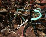Bianchi brought its extensive line of cyclocross bikes, including the value-oriented Axis, just $200 more than the Volpe but ready to race. ©Cyclocross Magazine