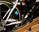 Stellina Sport's Alan show bike was displayed with HED's deep se