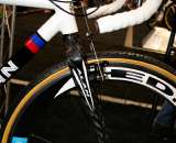 While this bike had Alan's all-carbon fork, Stellina typically s