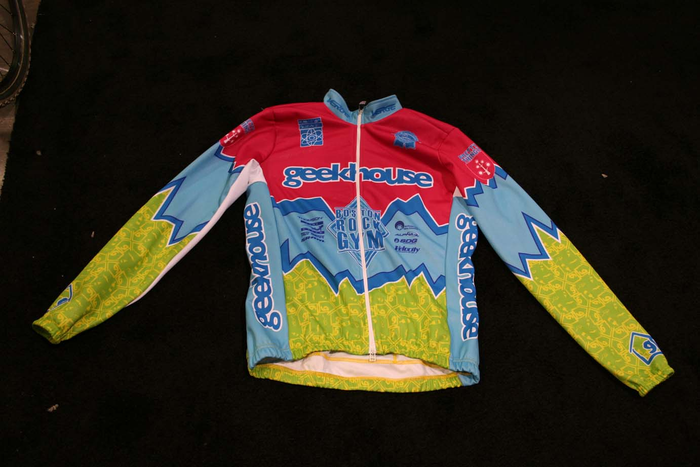 The Geekhouse team jersey: pretty hard to miss at a 'cross race. ?Cyclocross Magazine