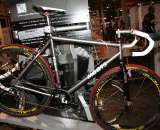 Moots showed off their Psychlo-X cyclocross bike, the same frame that won Wheelers and Dealers at Cross Vegas. ?Cyclocross Magazine