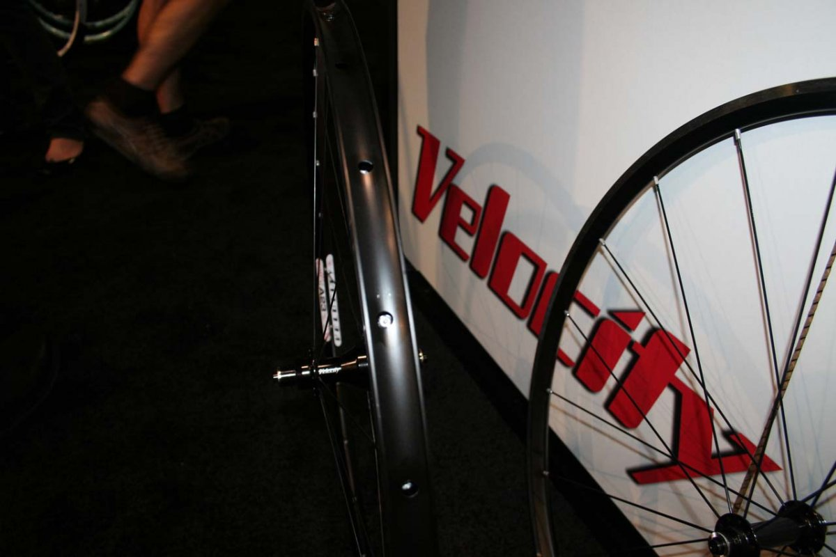 The Velocity A23 clincher rims offer stout tire support © Josh Liberles